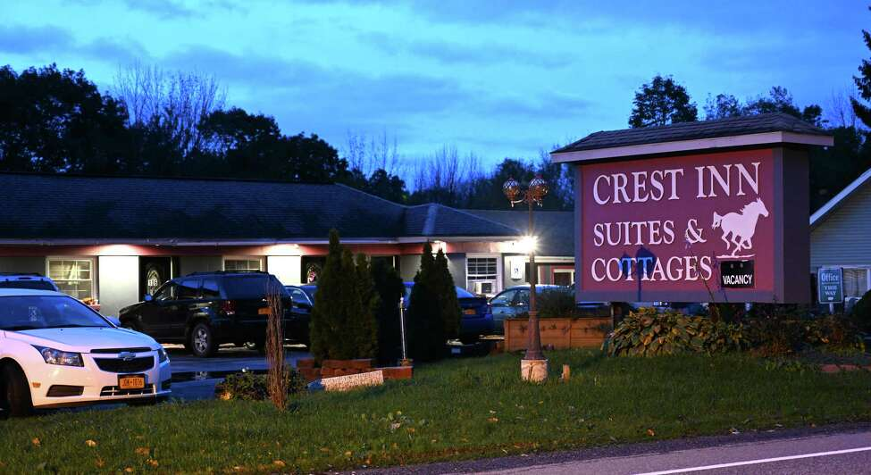 The Crest Inn is the scene of the find of a unattended death last evening Friday Oct.12, 2018 in Wilton, N.Y. (Skip Dickstein/Times Union)