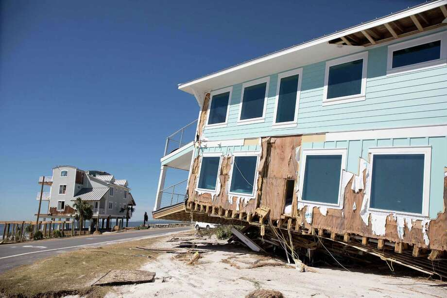 A View Of The Aftermath Friday Following Hurricane Michael S Charge Through Mexico Beach Florida