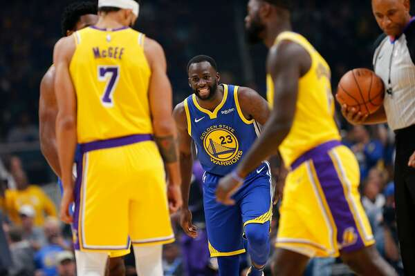 Golden State Warriors forward Draymond Green (23) during the first quarter of an NBA preseason game at SAP Center on Friday, Oct. 12, 2018, in San Jose, Calif.