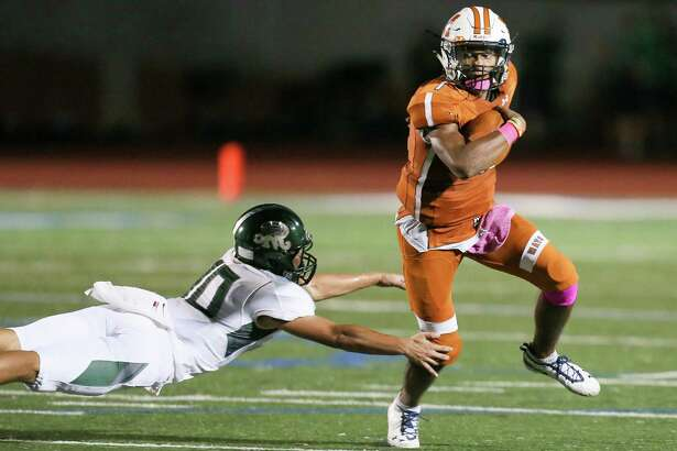 Madison and quarterback Dante Heaggans ran over Reagan on Friday. The senior accounted for six TDs against the Rattlers to take the 27-6A top spot.