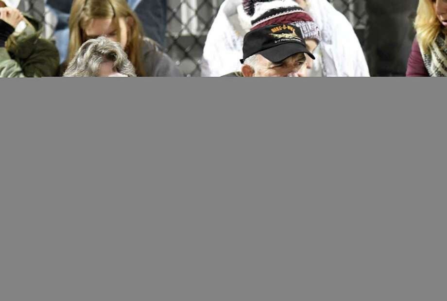 Fans watch Queensbury play Burnt Hills-Ballston Lakes during the first half of a Section II High School football game Friday, Oct. 12, 2018, in Burnt Hills, N.Y. (Hans Pennink / Special to the Times Union) Photo: Hans Pennink / Hans Pennink
