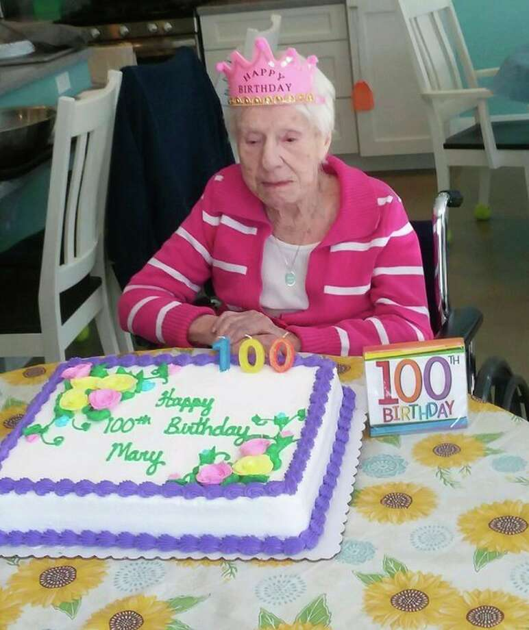 Mary Tucker was born in Essen, Germany on Oct. 2, 1918. She celebrated her 100th birthday this year with many friends and family. She resides at the Questover Assisted Living and Day Services in Port Austin, where they take very good care of her. (Submitted Photo)