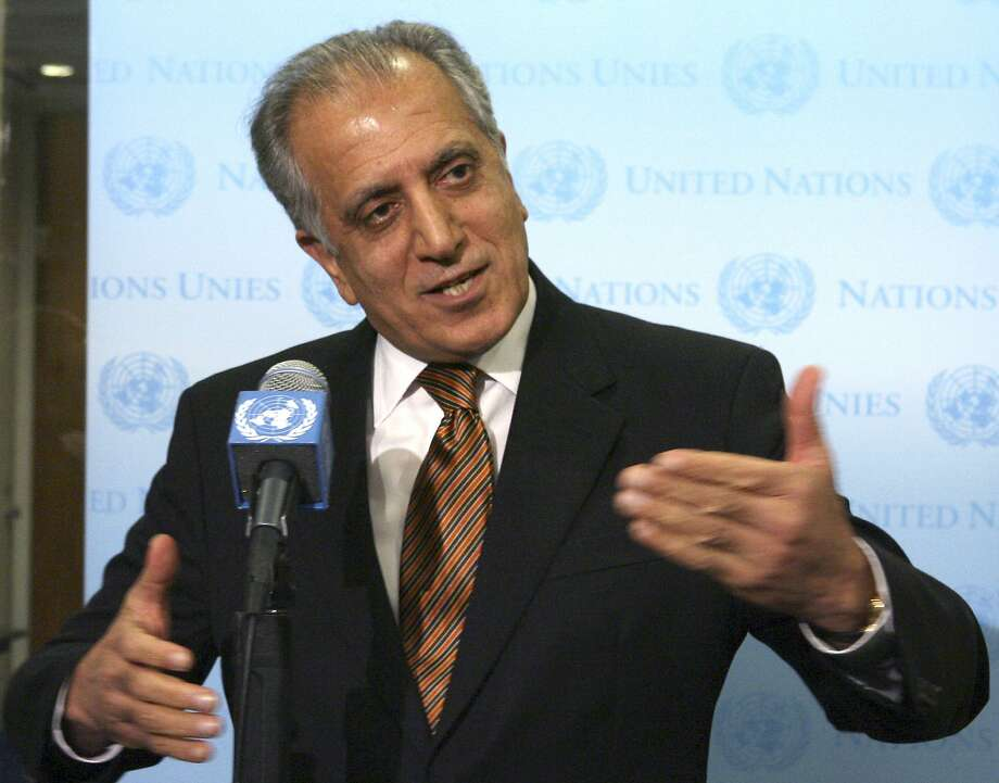 U.S. special envoy Zalmay Khalilzad met with the five-member Taliban delegation Friday in Qatar. Photo: Mary Altaffer / Associated Press 2009