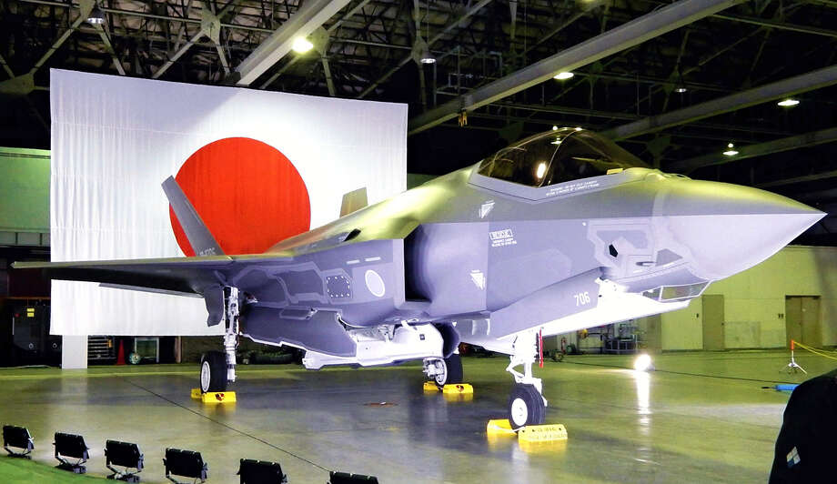 The Air Self-Defense Force's F-35A fighter jet is shown at Misawa Air Base in Aomori Prefecture in February. Photo: Japan News-Yomiuri Photo. / The Washington Post