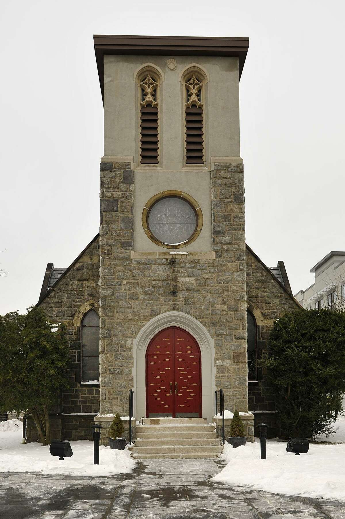 The exterior of St. Andrew's Episcopal Church on Washington Boulevard in Stamford, Conn., is seen on Thursday, Jan. 29, 2015.