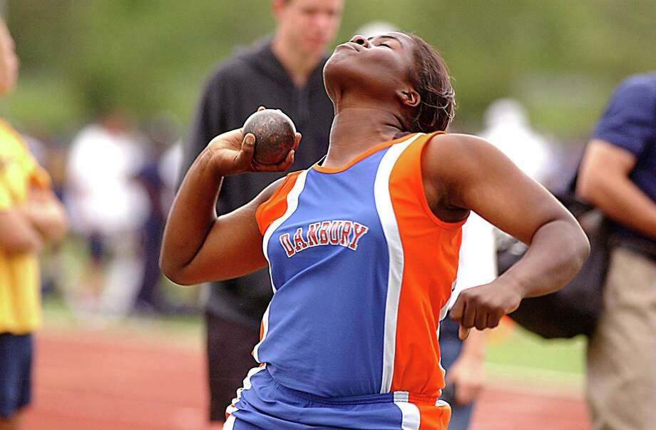 Marsha Locke competes in the shot put Photo: File Photo