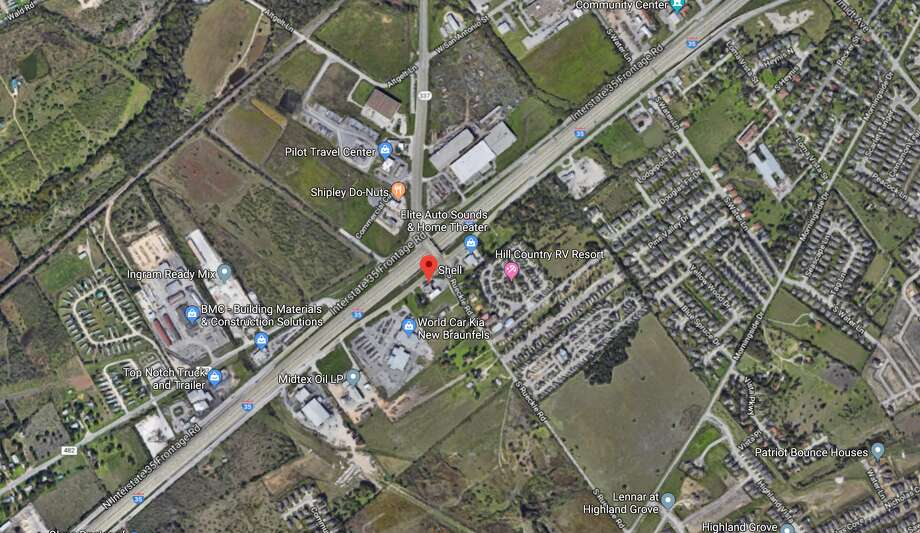 An 83-year-old New Braunfels man died Saturday morning after a cement mixing truck struch his vehicle at the intersection of I-35 and Rueckle Road. Photo: Google Earth