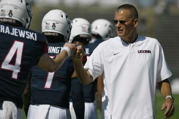 UConn coach Randy Edsall uses social media to post inspirational quotes and the names of the game captains among other things on his Twitter feed.