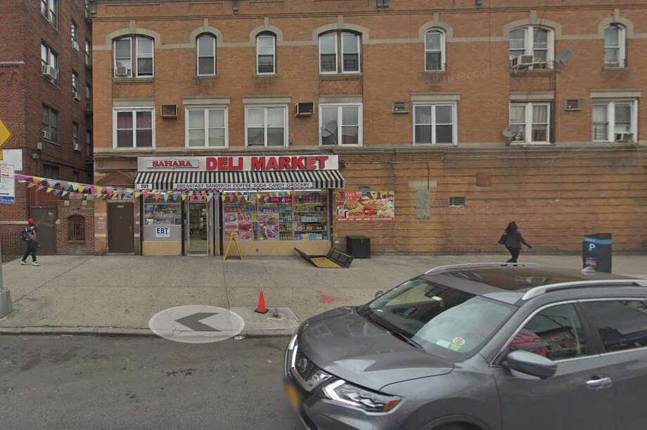 """This is the store front ofSahara Deli Market in Brooklyn, where a white woman, now dubbed """"Cornerstore Caroline,"""" falseley accused a 9-year-old black child of groping her. Photo: Screengrab Via Google Maps"""