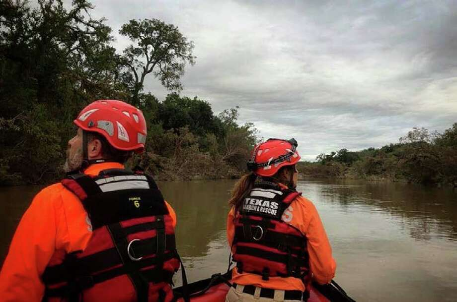 Volunteers continue to search for two missing people Saturday Oct. 13, 2018, in the Junction area after heavy rain Monday caused flooding of the Llano River. Photo: Courtesy Texas Search And Rescue