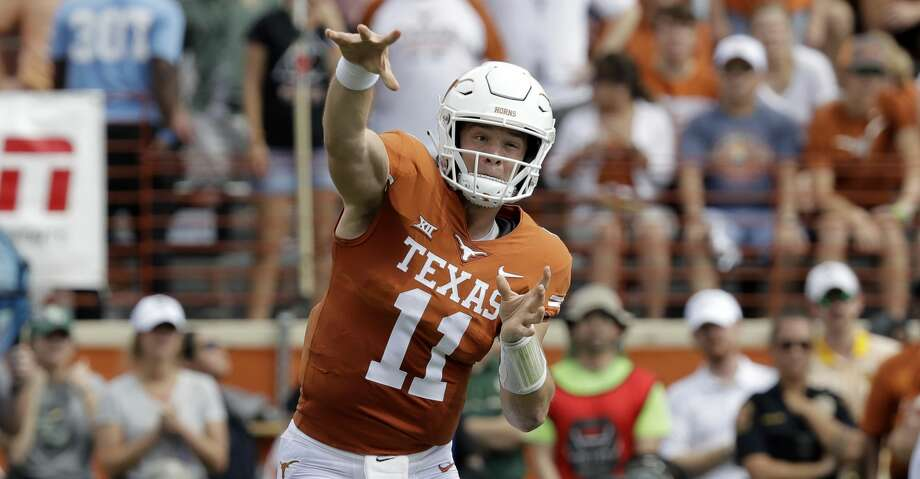 Texas quarterback Sam Ehlinger (11) throws against Baylor during the first half of an NCAA college football game, Saturday, Oct. 13, 2018, in Austin, Texas. (AP Photo/Eric Gay) Photo: Eric Gay/Associated Press
