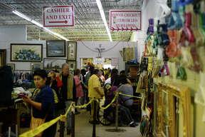 Annual Texas Size Garage Sale to befenit Senior Link, Oct. 13, 2018. James Durbin/Reporter-Telegram