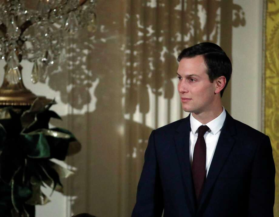 "FILE - In this Dec. 7, 2017, file photo, White House senior adviser Jared Kushner stands in the East Room of the White House as President Donald Trump speaks during a reception, in Washington. New York City Councilman Ritchie Torres plans to introduce a bill to close the ""Kushner loophole"" that fails to check up on landlords if they file false documents with the city. Current regulations allow Kushner Cos to avoid strict oversight of construction that critics say was used to drive out low-paying tenants. (AP Photo/Alex Brandon, File) Photo: Alex Brandon / Copyright 2017 The Associated Press. All rights reserved."