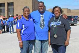 Fort Bend ISD hosted a festive block party at Willowridge High School on Saturday, Oct. 13. Pictured from the left: Alice Washington, president of the Willowridge High School Wall of Fame, Rev. David L. Sincere Jr., community advocate and founder of the Advocacy Now Institute, Dolores Collins, Willowridge parent-educator