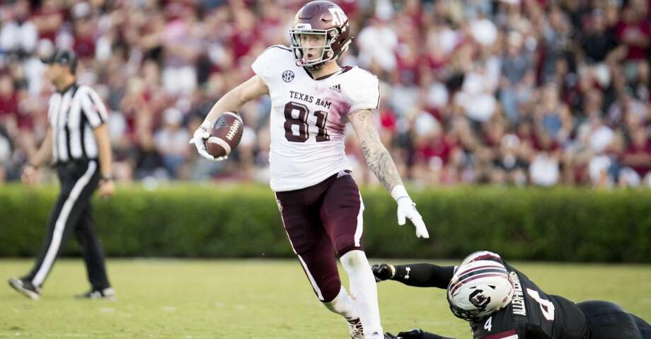Texas A&M's Jace Sternberger, the nation's top tight end in touchdowns and receiving yards, on Monday was named first team All-American by the Associated Press Photo: Sean Rayford/Associated Press