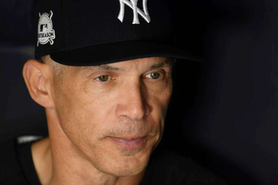 New York Yankees manager Joe Girardi at Yankee Stadium before Game 3 of the American League Division Series with the Cleveland Indians, in New York, Oct. 8, 2017. The manager figured he would get a hostile reception from Yankees fans Sunday night because of a Game 2 blunder, and he did. (Ben Solomon/The New York Times) ORG XMIT: XNYT20 Photo: BEN SOLOMON / NYTNS