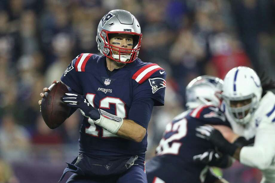FOXBOROUGH, MA - OCTOBER 04:  Tom Brady #12 of the New England Patriots looks to pass during the first half against the Indianapolis Colts at Gillette Stadium on October 4, 2018 in Foxborough, Massachusetts.  (Photo by Maddie Meyer/Getty Images) Photo: Maddie Meyer / 2018 Getty Images