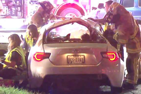 A black SUV southbound on Jones Road ran a red light at Fallbrook and slammed into the side of a Toyota Scion about 9:30 p.m. Saturday, authorities say. A passenger in the Toyota was flown to the hospital. The SUV driver fled the scene on foot, but deputies found him a few blocks away.