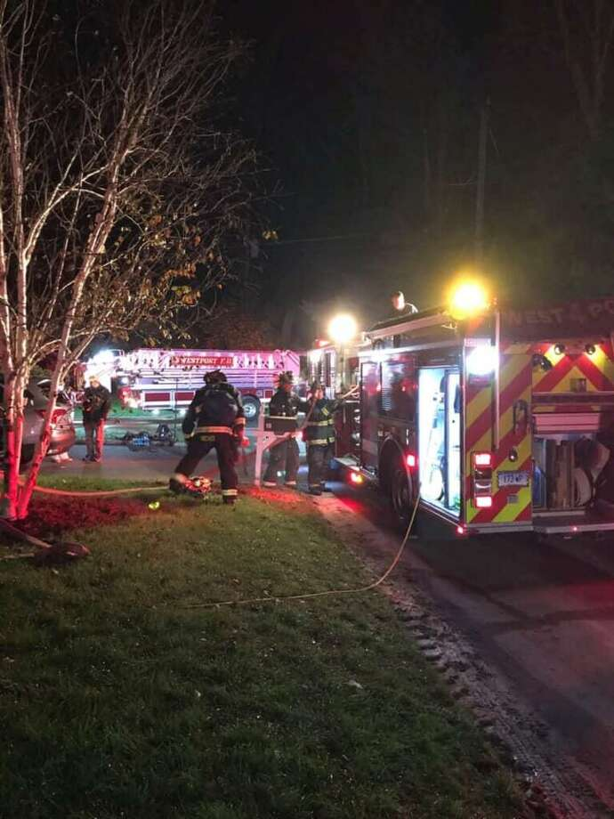 Westport Fire Department responded to an attic fire Saturday night. Photo: / Contributed Photo /Westport Fire Department Facebook
