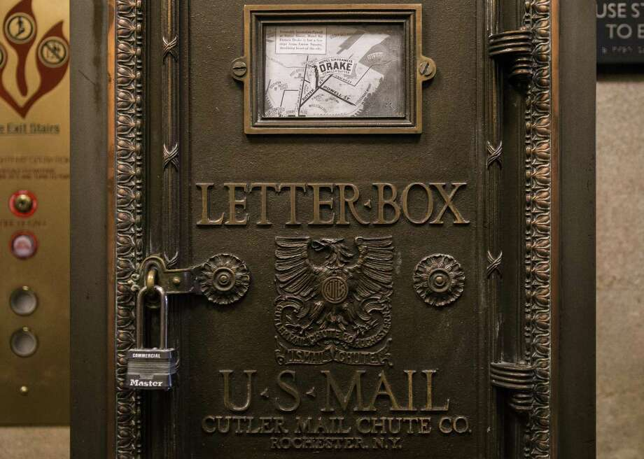 An original mailbox sits near the elevator inside the Sir Francis Drake Hotel in San Francisco, Calif. Thursday, Oct. 11, 2018. Photo: File Photo / ONLINE_YES