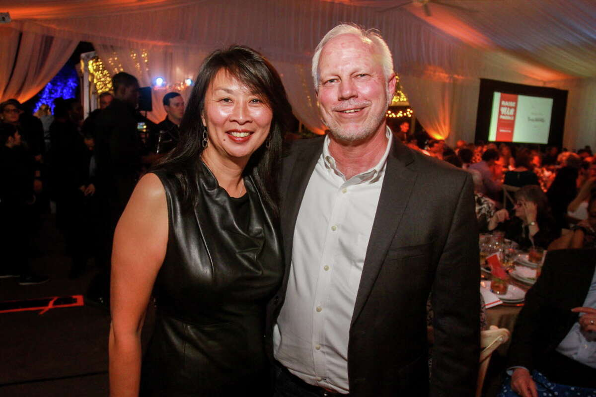 Sue Chin and Lee Ehmke at the Houston Zoo Conservation Gala.