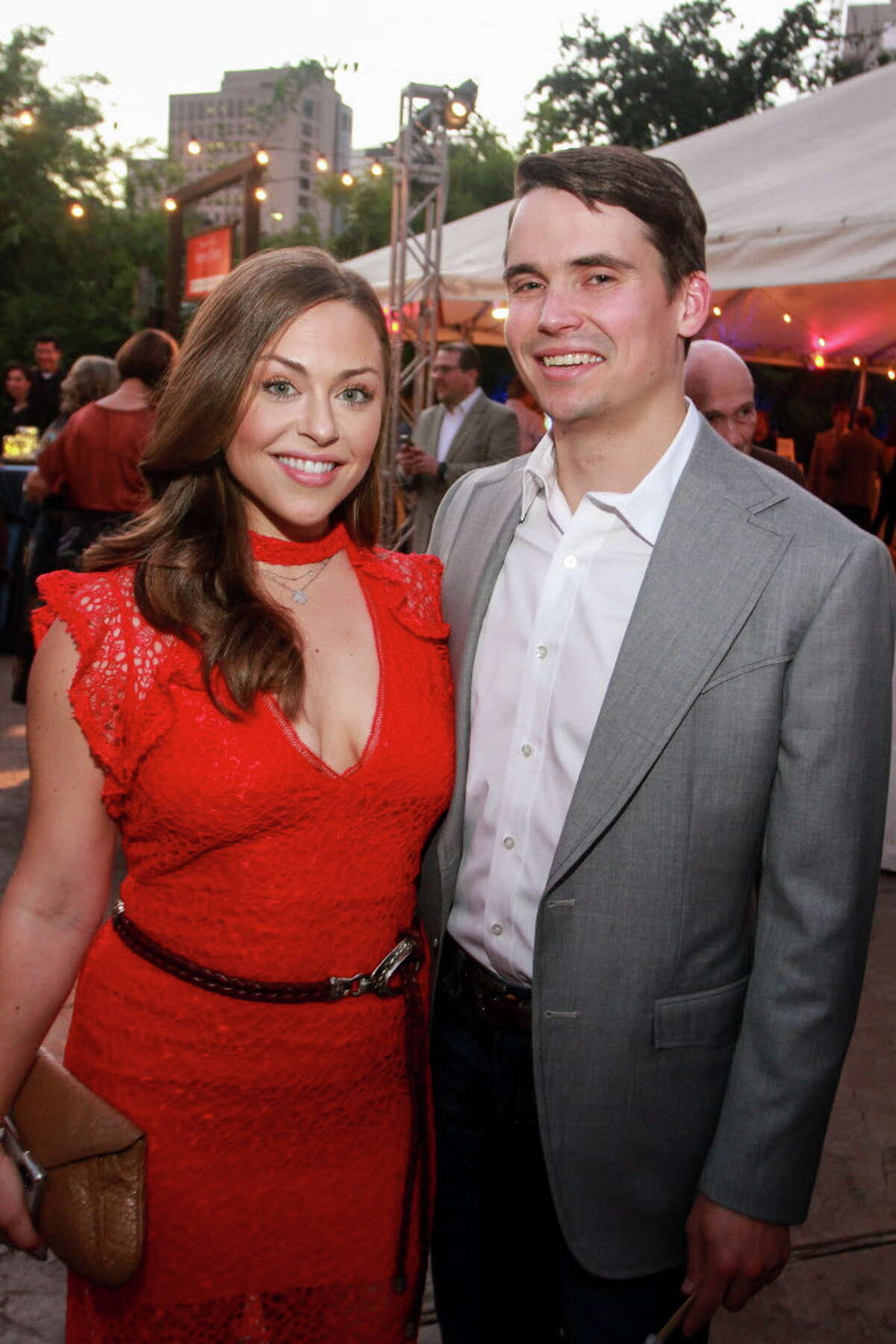 Lexi Sakowitz and Mike Marek at the Houston Zoo Conservation Gala.