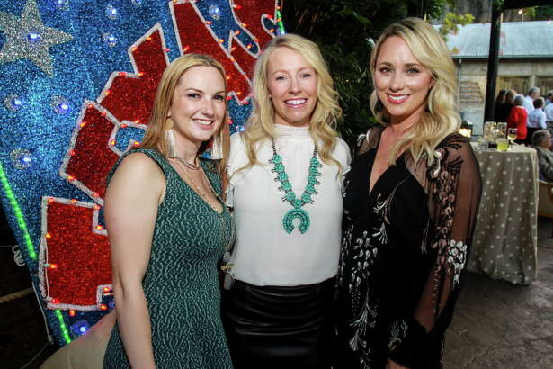 Angelica Haas, from left, Caroline Ruez and Stefanie Lyons at the Houston Zoo Conservation Gala.