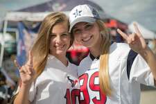Houston Texans fans tailgating at NRG Stadium before Texans game versus the Buffalo Bills Sunday, Oct. 14, 2018, in Houston.