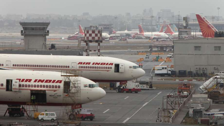 Air India aircraft seen parked on the tarmac of the international airport in Mumbai. Photo: Hindustan Times/Hindustan Times Via Getty Images
