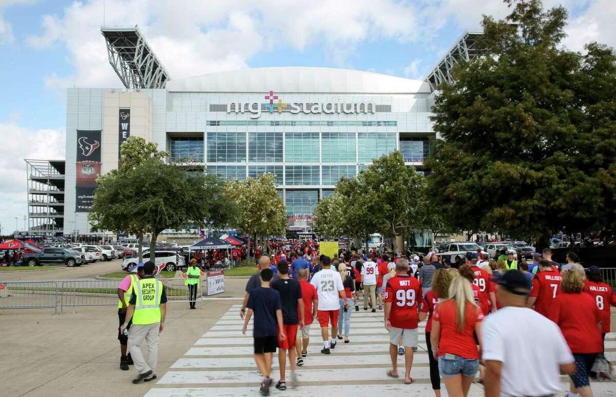 PHOTOS: Texas' largest stadiums  NRG Arena, adjacent to NRG Stadium, will host President Trump's rally on Monday, Oct. 22. >>>See the largest Texas stadiums...