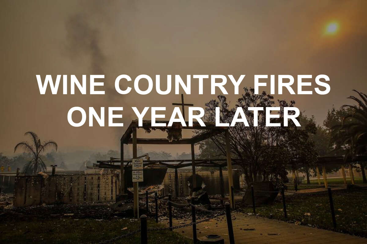 The Tubbs Fire torched 36,807 acres and destroyed 5,636 houses andbusinesses, most of them in Santa Rosa in October of 2017. The community showed remarkable strength and perseverance through the firestorm and, in the past year, residents have banded together to work toward rebuilding and reinventing their neighborhoods. Click through the gallery to see photos from the fires in 2017 and the same spots one year later.