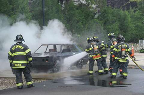 Greenwich citizens face the heat during fire simulation
