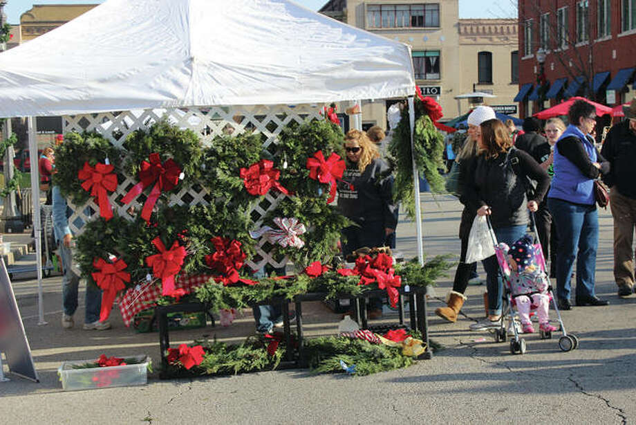 A scene from a previous Winter Market in downtown Edwardsville. Photo: For The Telegraph