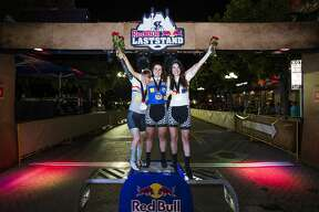 Competitors dashed through Downtown San Antonio on Saturday, Oct. 13 for the Red Bull Last Stand