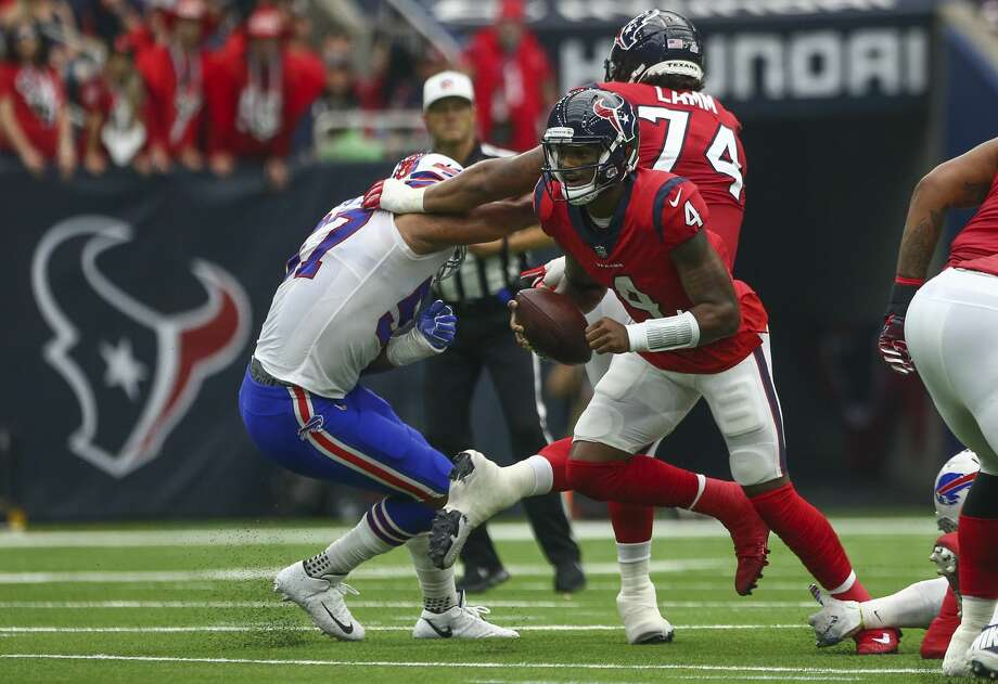 PHOTOS: A look at last year's Texans' win over the Bills Houston Texans quarterback Deshaun Watson (4) escapes the pocket during the first quarter of an NFL game against the Buffalo Bills at NRG Stadium Sunday, Oct. 14, 2018, in Houston. The Texans won 20-13. Photo: Godofredo A. Vasquez/Staff Photographer