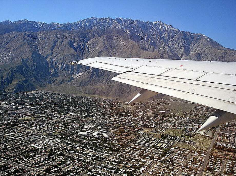 Flying over Palm Springs, California Photo: Chris McGinnis
