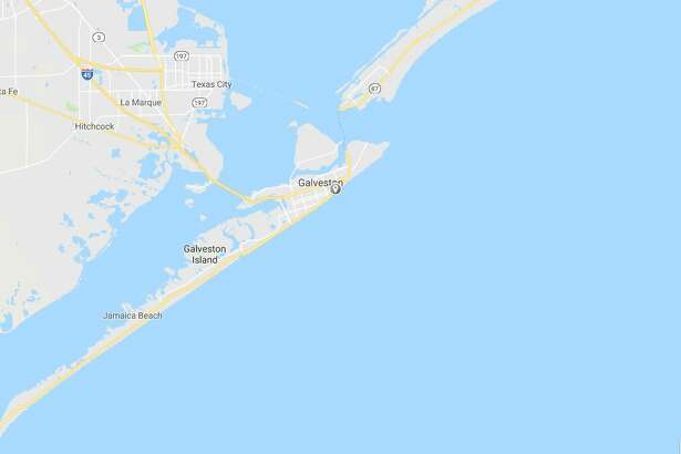 Google Maps view of Seawall Boulevard in Galveston, where two children have gone missing.