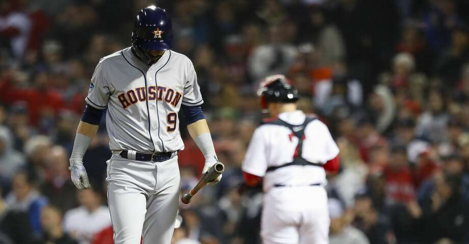 quality design d1bec c0f82 Astros drop Game 2 of ALCS to Red Sox - Houston Chronicle