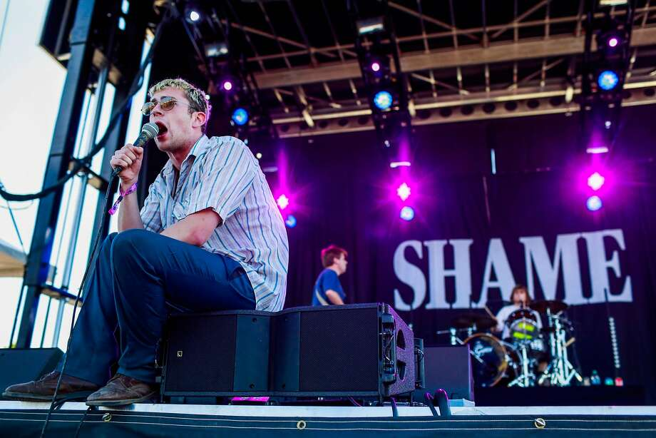 Shame performs during the Treasure Island Music Festival in Oakland on Sunday, Oct. 14, 2018. Photo: Gabrielle Lurie, The Chronicle