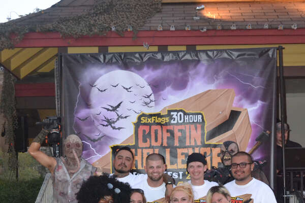 All of the people who participated in the 30-hour coffin challenge at Six Flags Fiesta Texas survived. They won cash prizes of $300 each, gold season passes for 2019 and Express Haunted House passes.