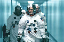 """This image released by Universal Pictures shows Ryan Gosling in a scene from """"First Man."""""""