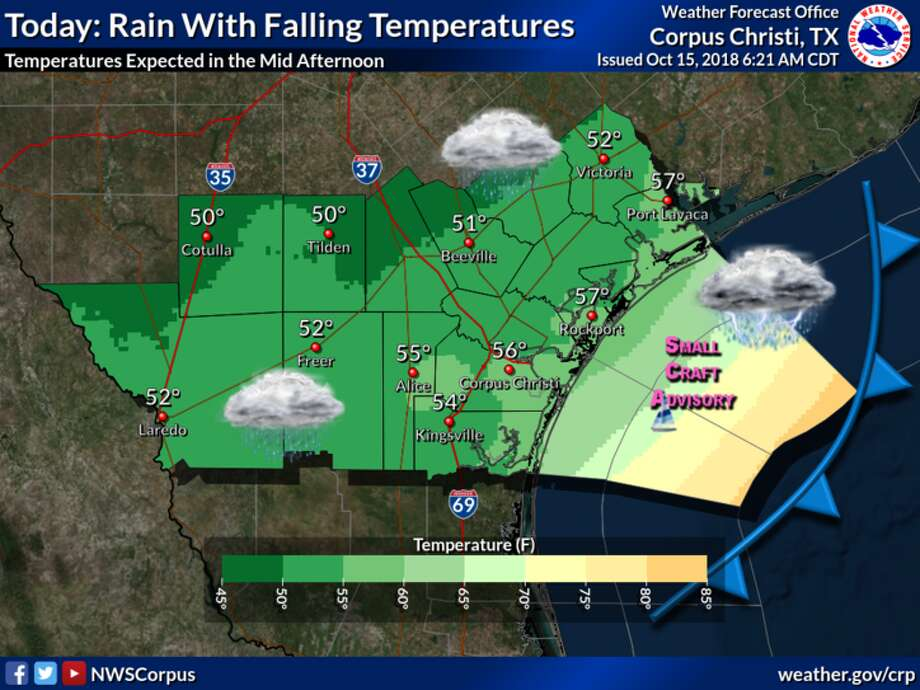 The first strong cold front of the season moved through Laredo this morning. Photo: National Weather Service