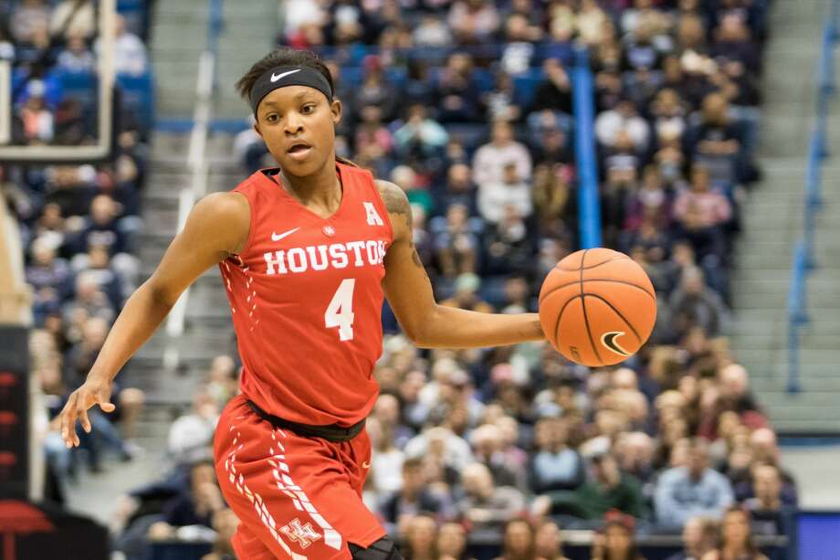 PHOTOS:Local high school players selected in NBA draft HARTFORD, CT - JANUARY 28: Houston Cougar's Guard Jasmyne Harris (4) in action during the second half a women's NCAA division 1 basketball game between the Houston Cougars and the UConn Huskies on January 28, 2017, at the XL Center in Hartford, CT. (Photo by David Hahn/Icon Sportswire via Getty Images) >>>Browse through the photos for a look at theall-time list of every player who played high school basketball in Houston and went on to be selected in the NBA draft ... Photo: Icon Sportswire/Icon Sportswire Via Getty Images