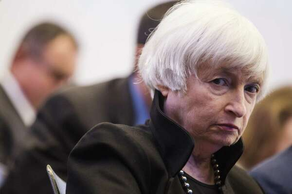 Janet Yellen, former chair of the U.S. Federal Reserve, listens during a Brookings Institution discussion in Washington on Sept. 12, 2018.
