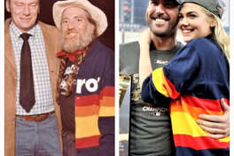 Supermodel Kate Upton and country icon Willie Nelson sport the same look.