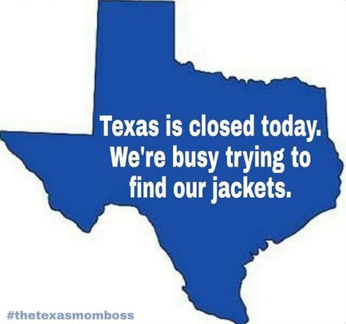 Texans took to Twitter when the cold front came through.
