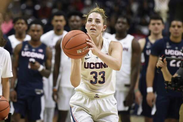 UConn senior Katie Lou Samuelson was named American Athletic Conference preseason Player of the Year. (AP Photo/Jessica Hill)