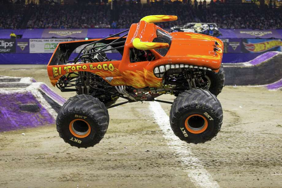 Kayla Blood will be at the wheel of El Toro Loco when Monster Jam marks its 10th anniversary in Bridgeport at Webster Bank Arena Oct. 26-28. Photo: Eric Stern / © ERIC STERN 847-404-8853, All Rights Reserved