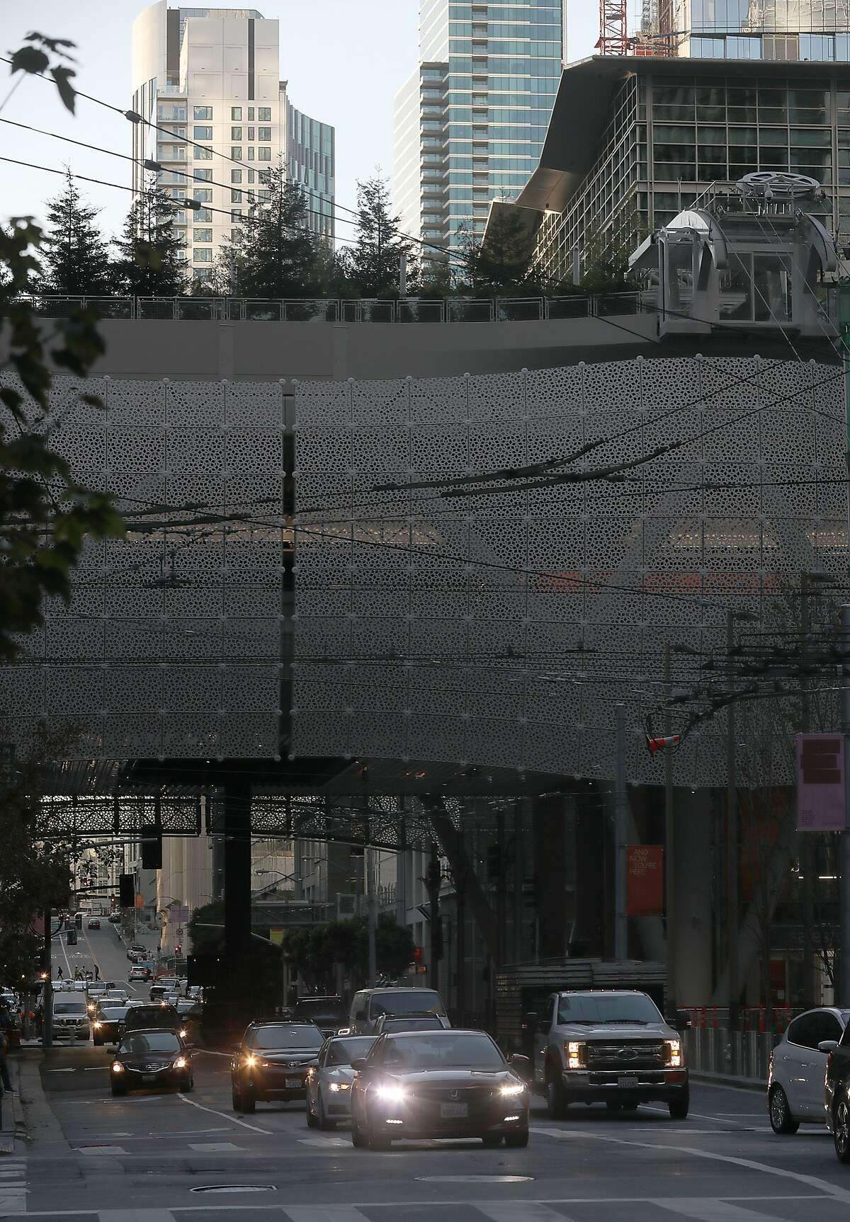 The damaged beams have recently been fixed at Transbay Transit Center and opens to traffic on Monday, Oct. 15, 2018 in San Francisco, Calif. The opening of Fremont, between Howard and Mission streets, comes nearly three weeks after cracks were found in steel beams above the motorway.