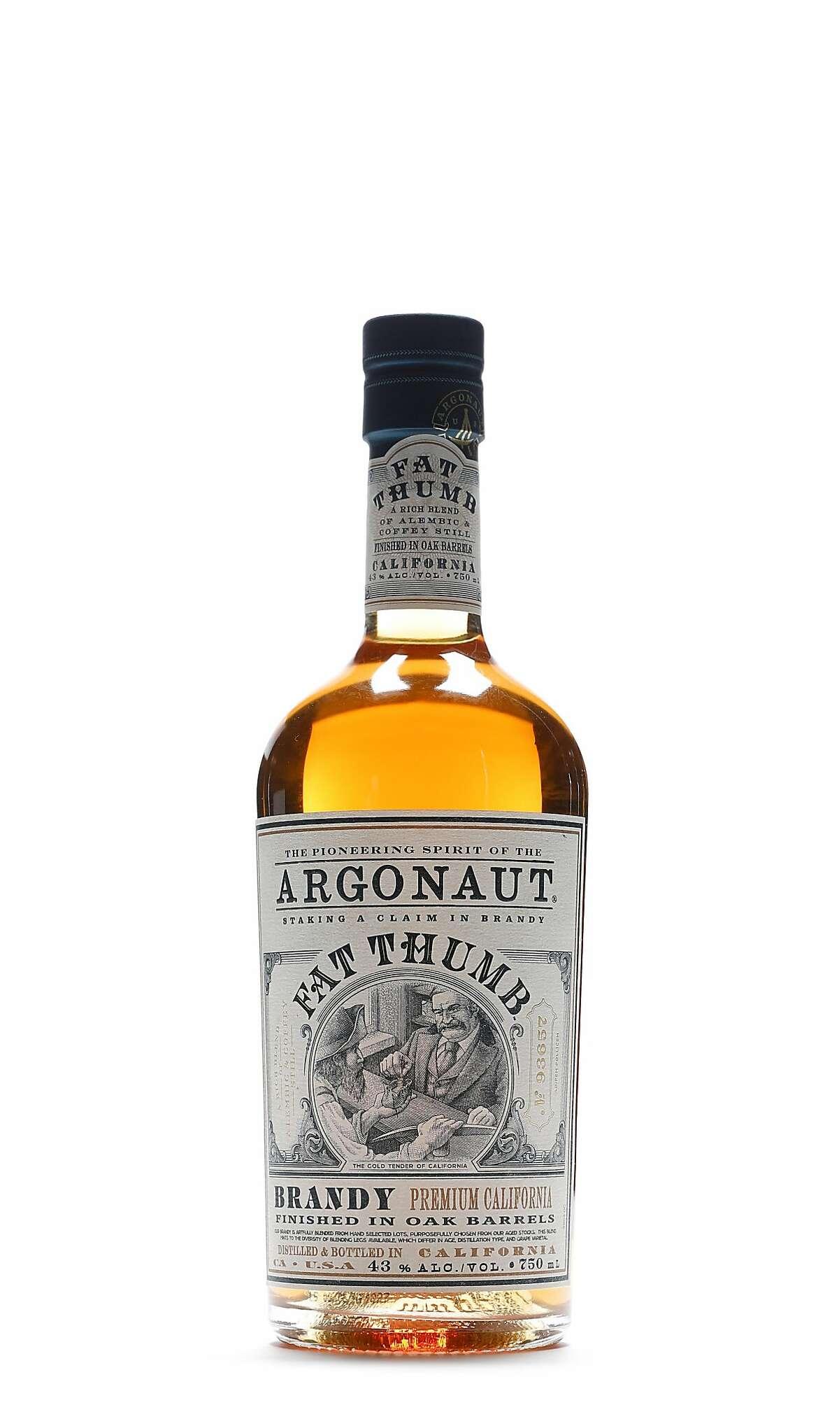 Argonaut Fat Thumb Brandy is seen on Tuesday, Oct. 9, 2018 in San Francisco, Calif.